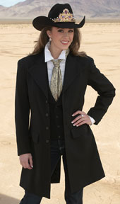 Miss Rodeo in black frock coat